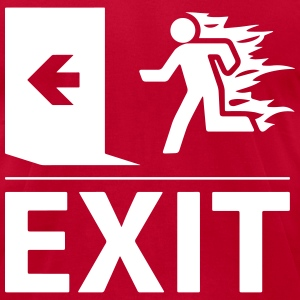 emergency fire exit sign T-Shirts - Men's T-Shirt by American Apparel