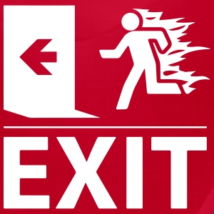 emergency fire exit sign Caps - Bandana