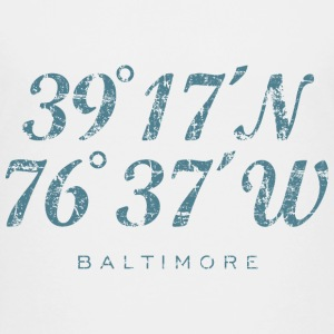 Baltimore Coordinates T-Shirt (Children/White) - Kids' Premium T-Shirt