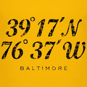 Baltimore Coordinates T-Shirt (Children/Yellow) - Kids' Premium T-Shirt