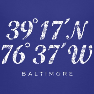Baltimore Coordinates T-Shirt (Children/Blue) - Kids' Premium T-Shirt