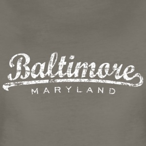 Baltimore, Maryland Classic T-Shirt (Women/Asphalt - Women's Premium T-Shirt