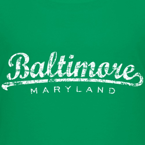 Baltimore Maryland Classic Vintage White