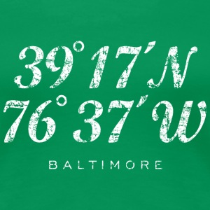 Baltimore Coordinates T-Shirt (Women/Green) - Women's Premium T-Shirt