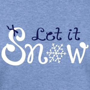 LET IT SNOW X-MAS Women's Wideneck Sweatshirt - Women's Wideneck Sweatshirt