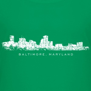 Baltimore, Maryland Skyline T-Shirt (Children Gree - Kids' Premium T-Shirt