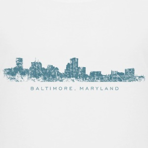 Baltimore, Maryland Skyline T-Shirt (Children/Whit - Kids' Premium T-Shirt