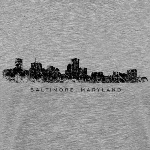 Baltimore, Maryland City Skyline Vintage Black