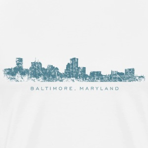 Baltimore, Maryland City Skyline Vintage Blue