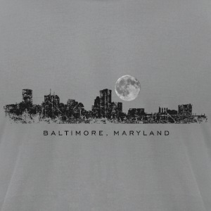 Baltimore, Maryland Skyline with Full Moon