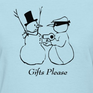 Christmas Snowman Thief - Women's T-Shirt