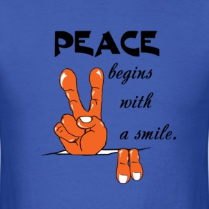 Peace begins with a smile - Men's T-Shirt