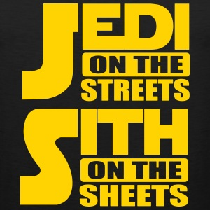 Jedi on the streets, sith on the sheets Tank Tops - Men's Premium Tank