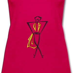 Women's Premium Tank Top with dancer in a Tux in c - Women's Premium Tank Top