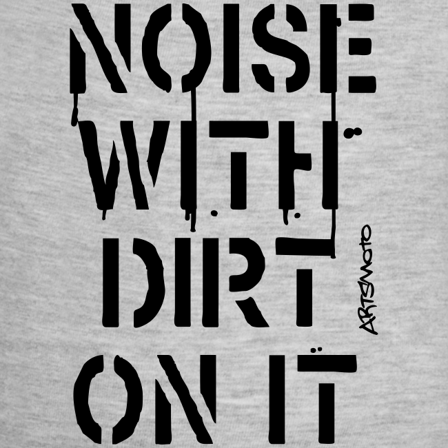 Noise With Dirt On It   Contrast Baby Bodysuit