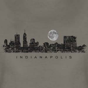 Sleepless in Indianapolis Skyline with Full Moon