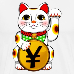 Yen Yuan Lucky Cat Maneki Neko - Men's Premium T-Shirt