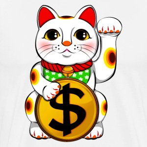 Dollar Lucky Cat Maneki Neko - Men's Premium T-Shirt