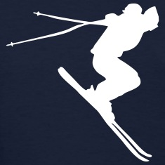 skiing, ski Women's T-Shirts