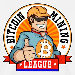 Bitcoin Mining League Logo - Men's Premium T-Shirt