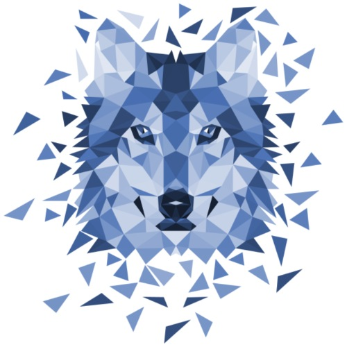 Wolf-Full-Vector-Blue