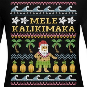 Mele Kalikimaka Christmas Long Sleeve Shirts - Women's Long Sleeve Jersey T-Shirt