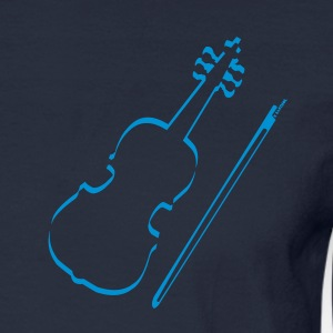 Violin Outline Long Sleeve Shirts - Men's Long Sleeve T-Shirt