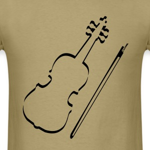 Violin Outline T-Shirts - Men's T-Shirt