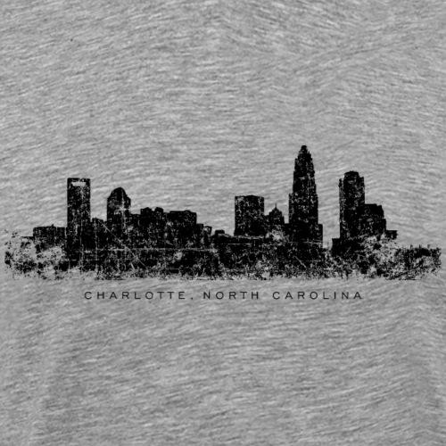 Charlotte, North Carolina Skyline Vintage Black