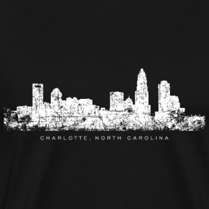 Charlotte, North Carolina Skyline T-Shirt (Men/Bla - Men's Premium T-Shirt