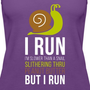 Snail Running T-shirt Tanks - Women's Premium Tank Top