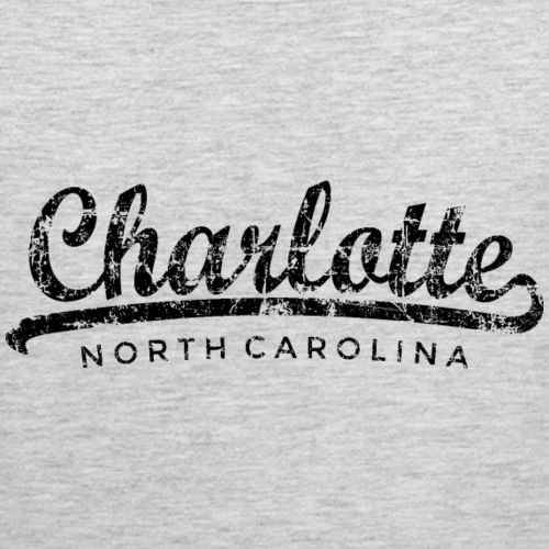 Charlotte, North Carolina Classic Vintage Black