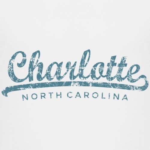 Charlotte, North Carolina Classic Vintage Blue