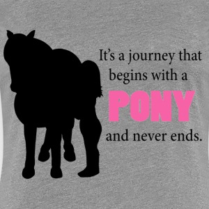 Starts With A Pony Women's T-Shirts - Women's Premium T-Shirt