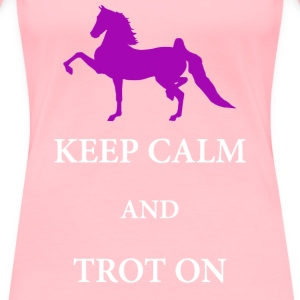 Keep Clam & Trot On Women's T-Shirts - Women's Premium T-Shirt
