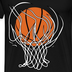 Basketball hoop and ball - Men's Premium T-Shirt