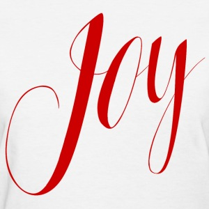 Joy in Red Typography - Women's T-Shirt