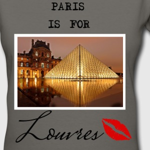 paris is for louvres 7 Women's T-Shirts - Women's V-Neck T-Shirt