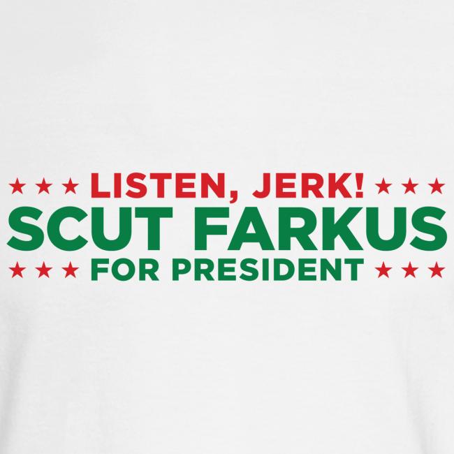 scut farkus for president christmas story shirt