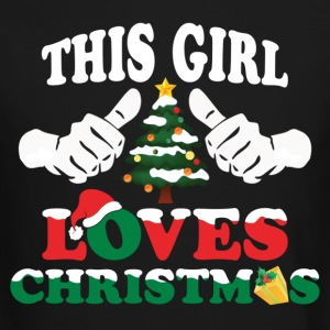 This Girl Loves Christmas Long Sleeve Shirts - Crewneck Sweatshirt