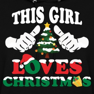 This Girl Loves Christmas Hoodies - Women's Hoodie