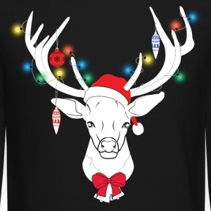 Santa Deer Long Sleeve Shirts - Crewneck Sweatshirt