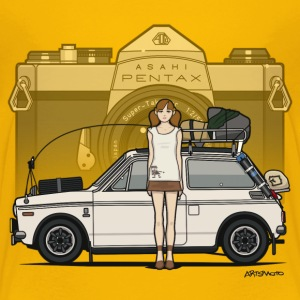 Honda N600 Rally Kei Car With Asahi Pentax Girl Baby & Toddler Shirts - Toddler Premium T-Shirt