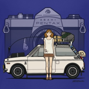 Honda N600 Rally Kei Car With Asahi Pentax Girl Kids' Shirts - Kids' Premium T-Shirt