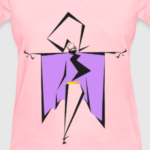 Women's T-Shirt - diva with a cape in color  - Women's T-Shirt
