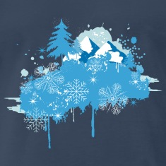 wintry landscape Graffiti T-Shirts