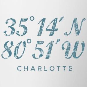 Charlotte North Carolina Coordinates Vintage Blue