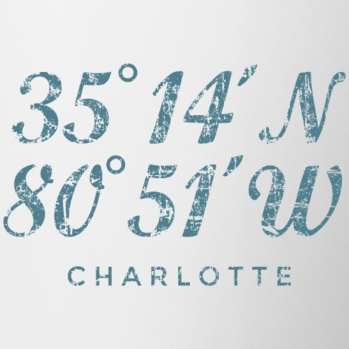 Charlotte North Carolina Coordinates Vintage Blue