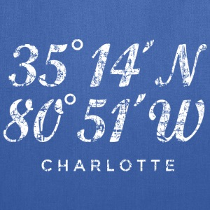 Charlotte, North Carolina Coordinates Bag (Blue) - Tote Bag