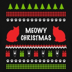 Meowy Christmas Funny Ugly Sweater For Cat Lovers Hoodies